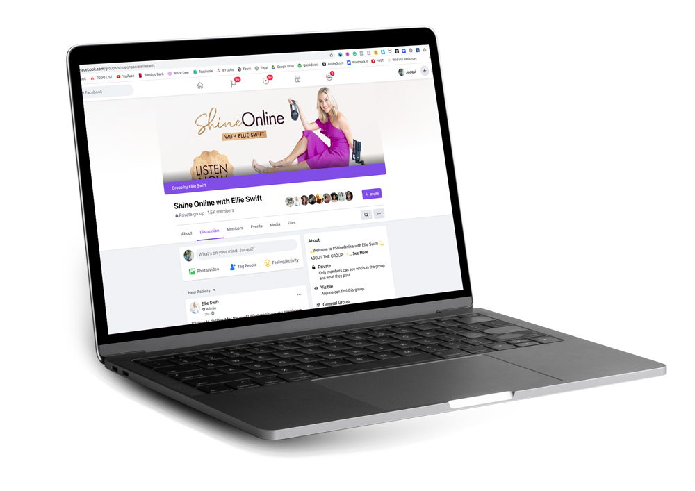 Shine Online with Ellie Swift Facebook Group